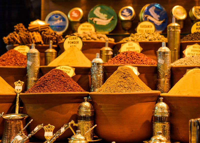 Spice Bazaar with spices for sale